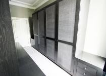 Dark bespoke wardrobe