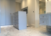 Bathroom fitted wardrobe