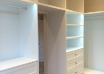 Walking bespoke wardrobe lighting