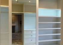 Walking bespoke wardrobe with led