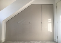 Bespoke wardrobe with high gloss doors