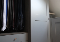 made to measure wardrobe with hanging rail