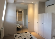 white gloss walkin wardrobe london