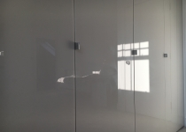 High gloss fitted wardrobe doors