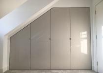Bespoke wardrobe with high gloss doors