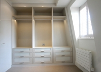 white gloss unit wardrobe